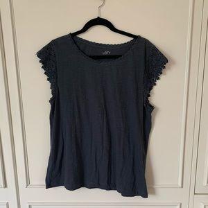 Loft XL tshirt with crochet detail